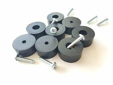 "8 Amp/Cabinet Rubber Feet 1-5/8"" Dia * 3/4"" Ht + Screws & Metal Washers Built-in"