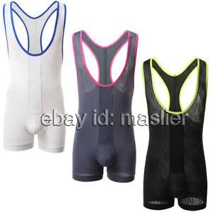 Corrugated series Men's Translucence Wrestling wardrobe Underwear Gallus vest