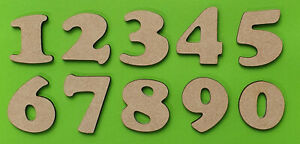 Wooden Numbers Large Small 3-30cm (3mm Thick) Craft MDF Laser Cooper Font Kids