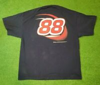 NASCAR Dale Jarrett 88 Double Sided Graphic Large Blue Red T-Shirt Size XXL