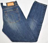 Calvin Klein Jeans Men's CKJ 026 Slim Fit Denim Rabitos Blue Wash MSRP $118 P205