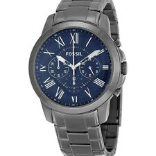 Fossil Men's Grant Chronograph Ion Pleated Watch FS4831