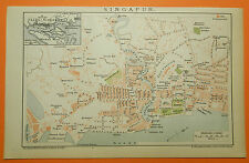 Singapore Singapur  Singapura  Xīnjiāpō Gònghéguó historical  City Map 1895