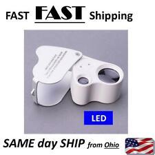 60X dual 30X Glass Jeweler Eye Loop W/ LED Lights DUAL jewelry tool loup