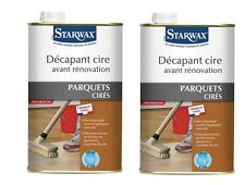 LOT 2 DECAPANT CIRE EXTRA FORT POUR RENOVATION PARQUET CIRE 1L 507 STARWAX