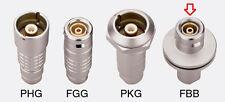 set of  5 pieces LEMO TRIAX-8 Cable panel plug (FBB.4M.650.CTLC80)