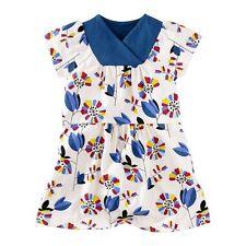 NWT Tea Collection Klee's Garten Wrap Dress Sz: 7 Blue/White Chalk