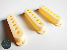 Aged Cream Strat Stratocaster Electric Guitar Single Coil Pickup Covers x3