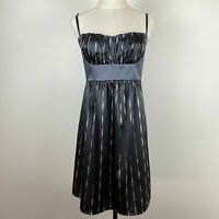 Cooper St Womens Grey Baby Doll Lined Australian Foil Dress Size 14 A8