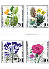 4 Maximumkarten Deutschland 1980 Ackerwildkräuter Nr :1059 - 1062 MK_190