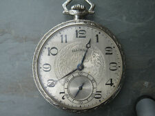 Vintage Illinois Size 12  14k  Solid Gold  Case Pocket Watch 1916 Circa 44mm