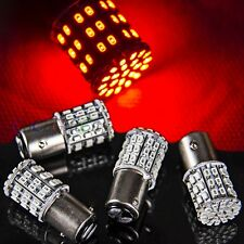 4 x Red BAY15D 1157 64 SMD LED Bulb Car Tail Stop Brake Light Super Bright 12V