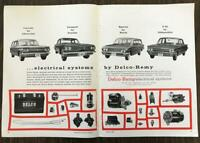 1961 Delco-Remy Electrical Systems Two-Page Ad From the Highway to the Stars