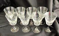 "Set of 8 BACCARAT France Val De Loire Wine Glass Stems 5"" - Signed"