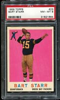 1959 Topps Football #23 BART STARR Green Bay Packers PSA 8 NM-MT