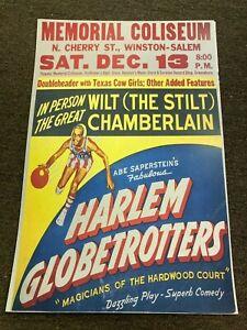 Harlem Globetrotters Wilt Chamberlain 1959 Promo Cardstock Poster 12x18