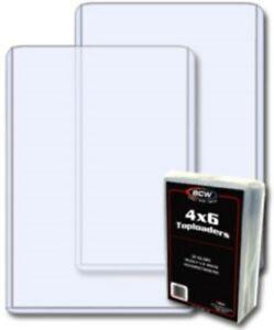 50 BCW 4 x 6 Hard Plastic Postcard / Photo Topload Holders 4x6 rigid protectors