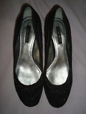 NINE WEST  UK 7.5  EU 41 US 10 BLACK Suede Shoes RRP £119.00