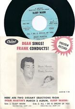 "DEAN MARTIN ""Sleep warm / All I do is dream of you"" Preview Promo only PRO 987/8"