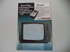 advertising Pubblicità 1979 99 CANALI PHILCO TV
