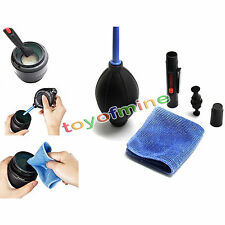 3 in 1 lens cleaning set dslr poussière brosse soufflante essuie-glace tissu kit