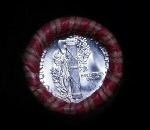 """Crimped Shotgun Roll w/ GEM UNC """"D"""" Minted Mercury Dime & 1905 Indian Head Cent"""