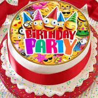 EMOJI BIRTHDAY PARTY PRECUT EDIBLE BIRTHDAY CAKE TOPPER DECORATION KPE002