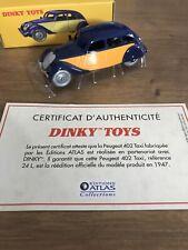 Peugeot 402 Taxi 24L Dinky Toys Atlas 1/43 avec boite et Certificat