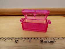 Lego trans-dark pink treasure chest with slots in back, part no. 4738ac01
