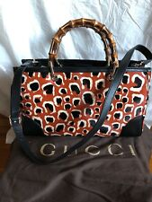 Authentic Gucci Limited Black Leather With Fur Animal Print 2 Ways Bag