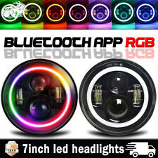 RGB 7inch 120W LED Halo Headlights Kit Bluetooth APP For 1969-1981 Chevy Camaro