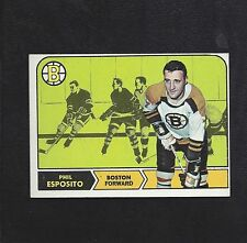 1968 Topps #7 Phil Esposito, HOF, Boston Bruins Vintage NHL Hockey 1968-69