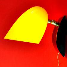 WANDLAMPE, schwarz / gelber Kunststoff, 50er Jahre