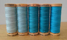 Gutermann Natural Cotton Sewing Thread 100m set of 5 - FN20 - Turquoise Blues(2)