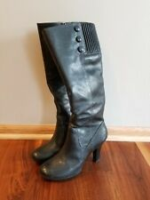 SOFFT High Heel Tall Boots Women's Size 7 M, Black Leather