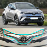 2018 ABS Chrome Front Emblem Garnish Trim For TOYOTA C-HR CHR ZYX10 NGX50