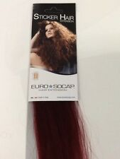Euro So Cap Tape Hair Extensions - Burgundy Red (#530)