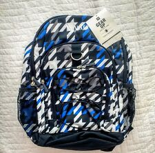 "New! Pottery Barn Teen GEAR UP boys large BACKPACK monogram "" WYATT "" navy blue"