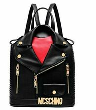 Coolives PU leather retro jacket Shoulder Backpack  Rucksack  Bag moschino style