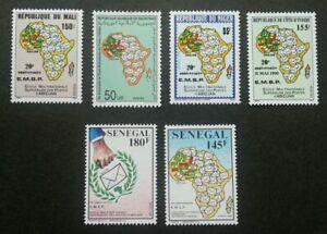 [SJ] Senegal Mali Mauritania Niger Joint Issue 20th Anni Postal 1990 (stamp) MNH