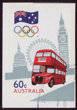 AUSTRALIA 2012 LONDON OLYMPICS S/ADHESIVE BOOKLET STAMP FINE USED.