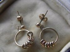 9ct Gold Detailed Hoop Earrings,