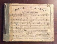 Royal Diadem (1873, Hardcover) Songbook Sheet Music SheetNoteMusic.com Gospel