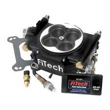FiTech Fuel Injection System 30002; Go EFI 600 HP Throttle Body Black Finish