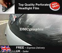 2xA4 Perforated Car Window Fly Eye Headlight Film Mesh One Way Vision Wrap Tint