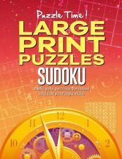 Sudoku Large Print Puzzle Book. Travel Games. Gift Stocking Filler
