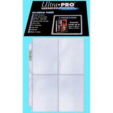 10 pages Ultra Pro 4 Pocket Platinum Pages Box idéal pour pca et psa pokemon mag