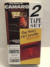 The Story of Corvette and The Story of Camaro 2 VHS Tape Collection History Cars