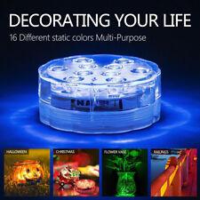 10 LED Waterproof Light Colorful Aquarium Diving Light Fish Tank Decor Lamp UK