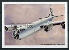 Sierra Leone 1995 MNH WWII VJ Day 50th Peace in Pacific 1v S/S Aviation Stamps